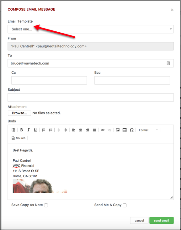 manage your account email templates helpdesk