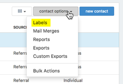 How do I create Mailing Labels or Envelopes in Redtail