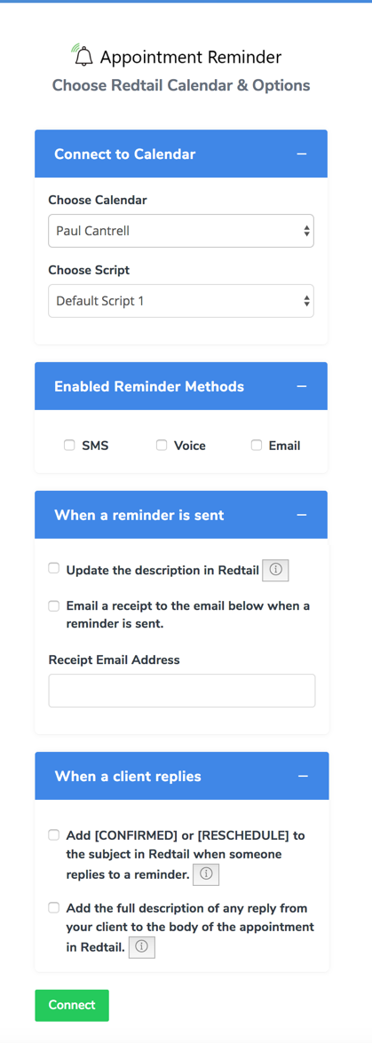 Appointment Reminder – Helpdesk