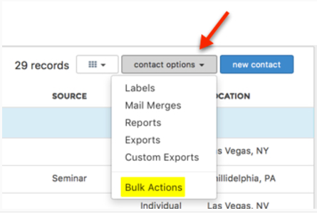 Assign Keywords to your contacts in bulk – Helpdesk