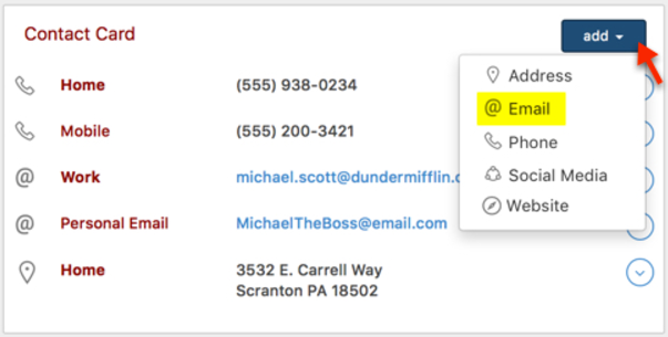 How do I add a contact's Email Address to their record? – Helpdesk