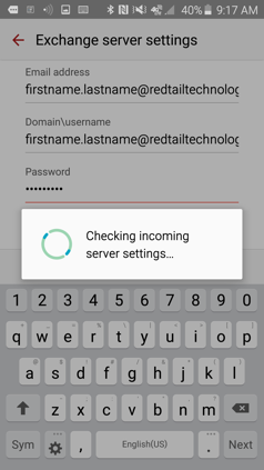Setting up an Email Account as a MAPI (Exchange) account on