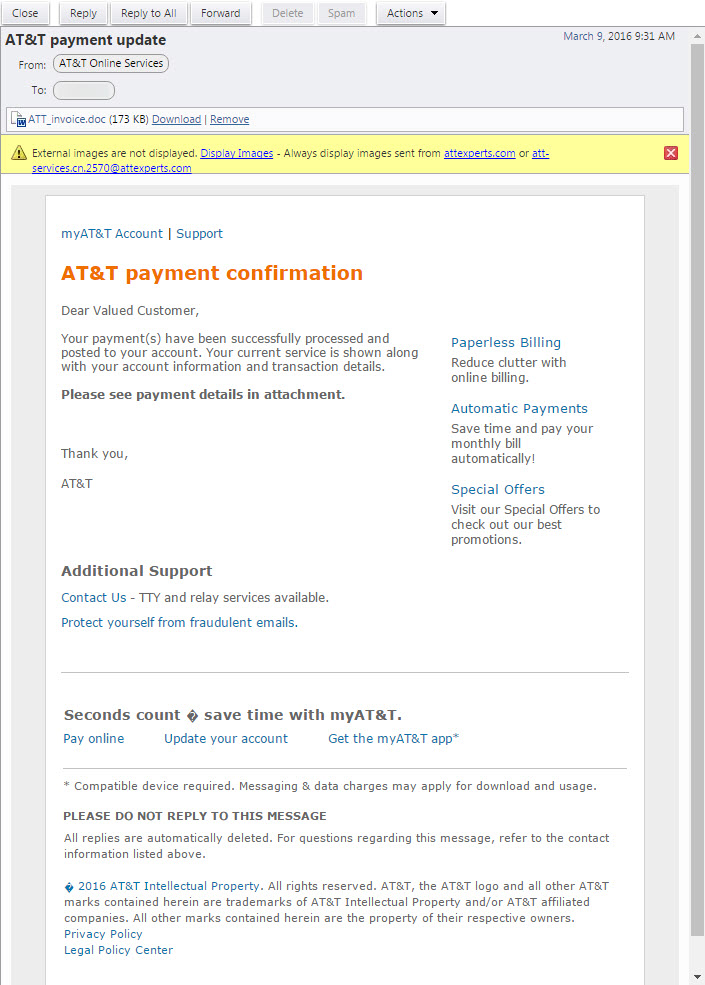 Spam Alert Invoice And Zip File Spam Helpdesk - Adp open invoice help