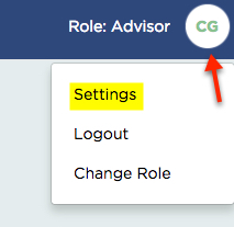 Log In To Your Smart Ria Account Click The Circle With Initials Upper Right Corner And Settings